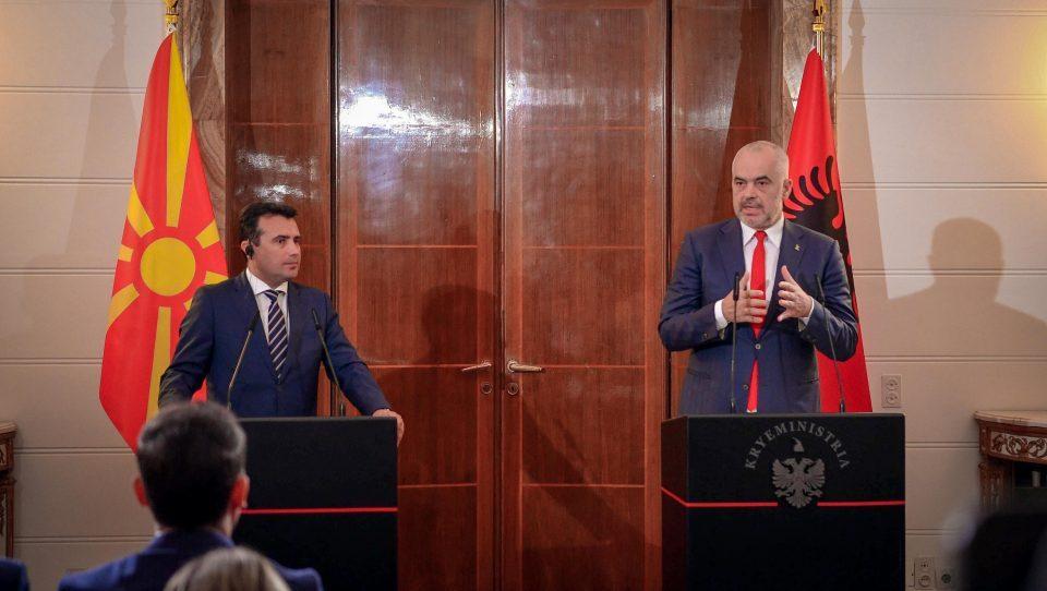 Zaev congratulates Edi Rama in Albanian