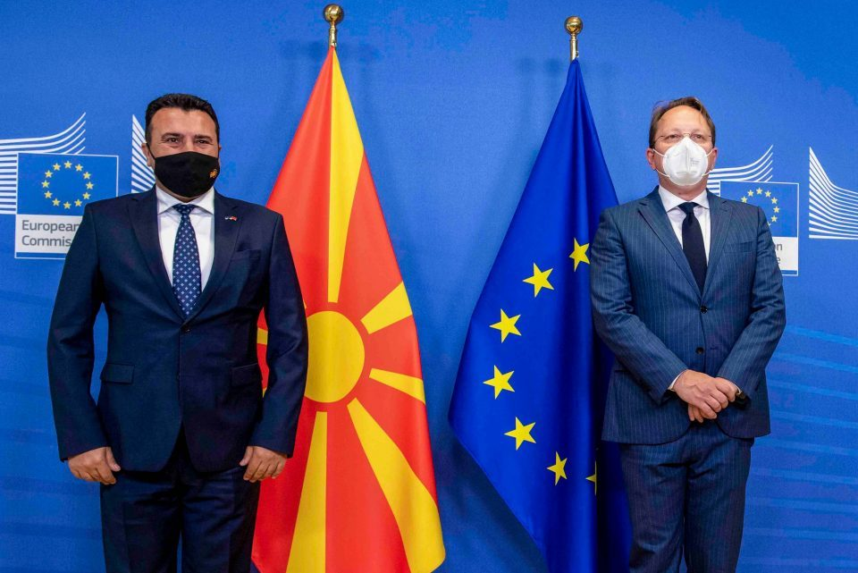 Zaev – Varhelyi in Brussels: Identity can't be a reason for blocking EU integration