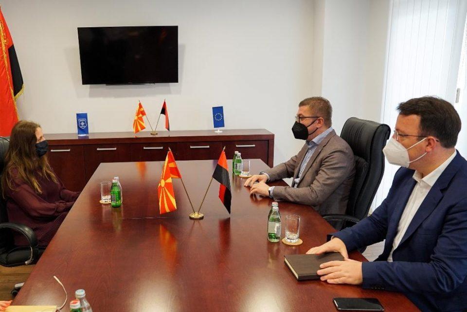Mickoski and Nikoloski meet British Ambassador to Macedonia Rachel Galloway