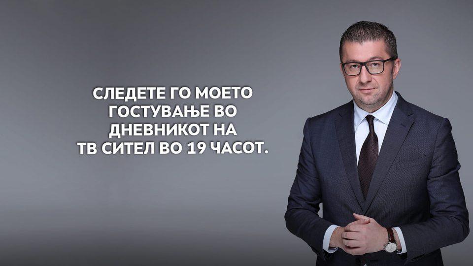 Interview with Hristijan Mickoski on Sitel TV