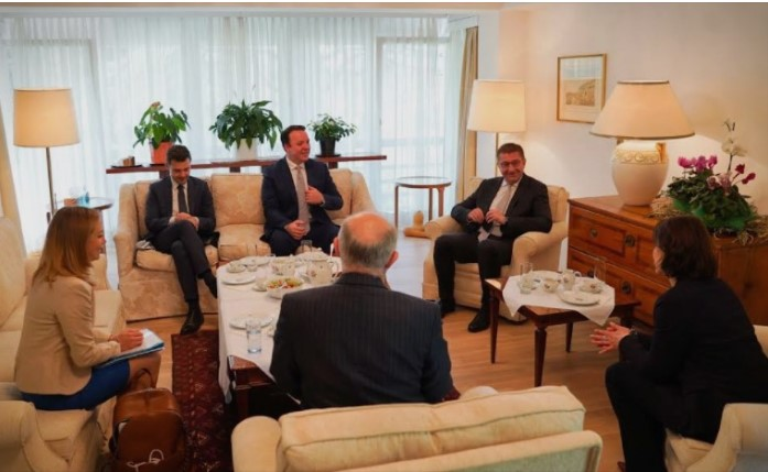 Mickoski meets Edtstadler, Minister for the EU and the Constitution at the Austrian Chancellery
