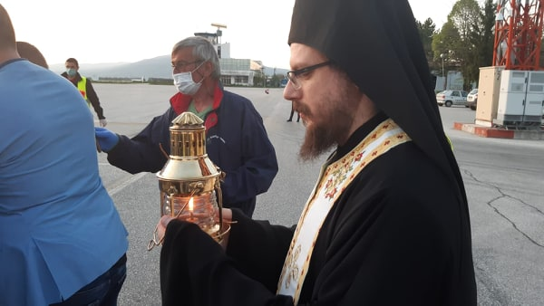 The Holy Fire arrives in Macedonia tonight