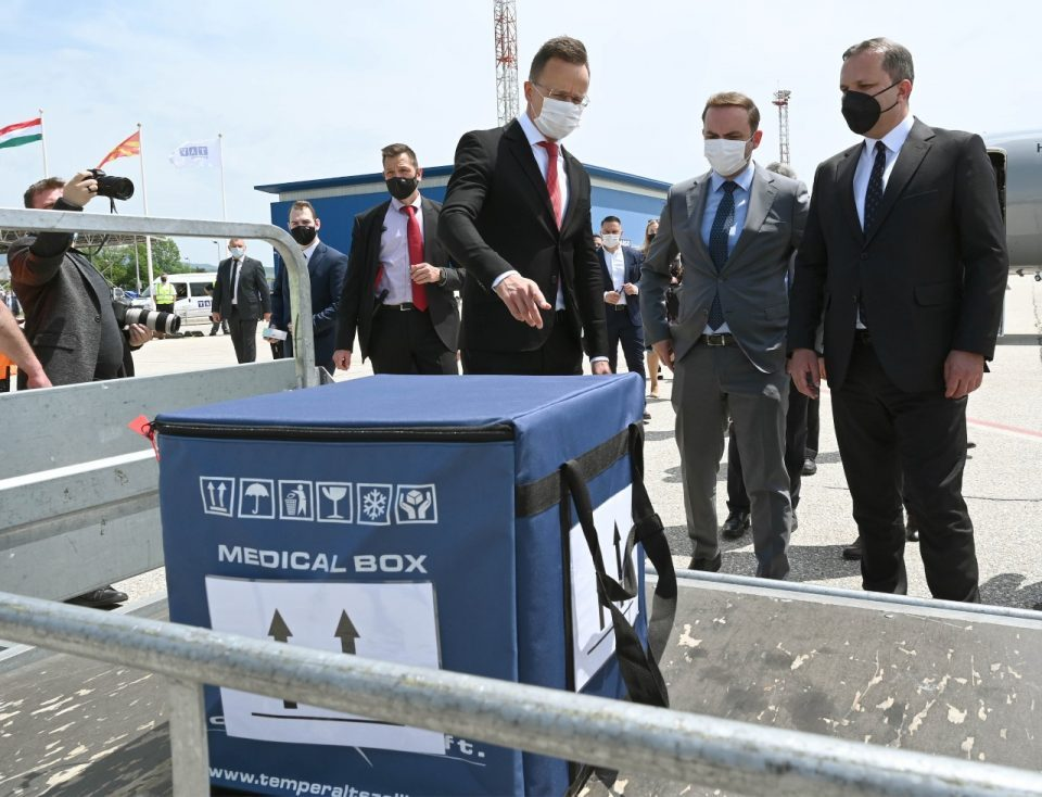 Hungary donated 6,000 vaccines for Macedonian border guards
