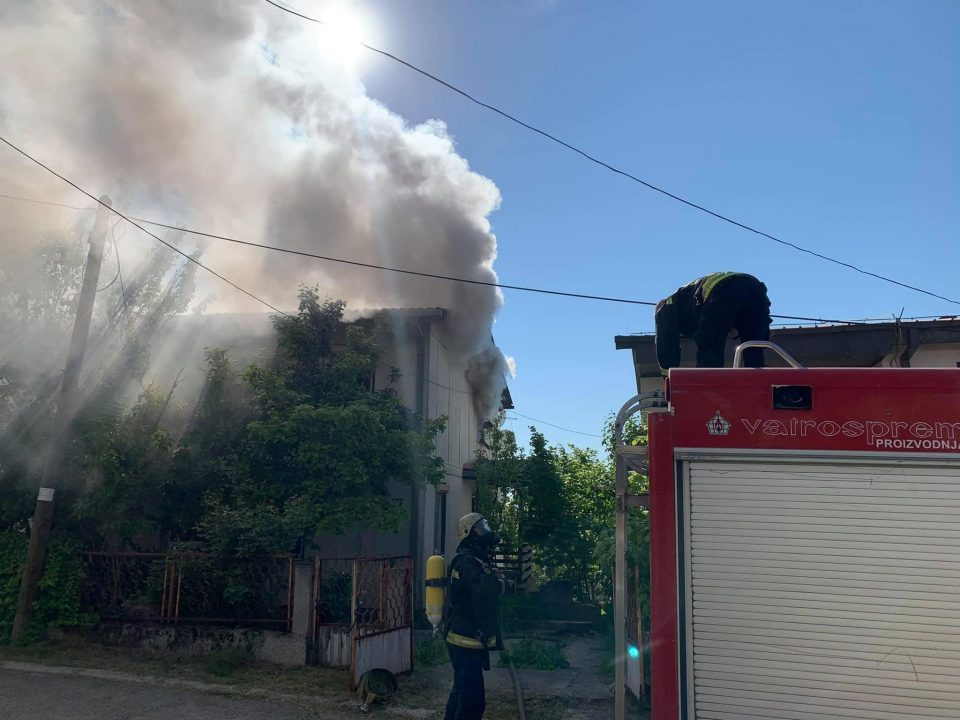 One person saved from a fire near Skopje