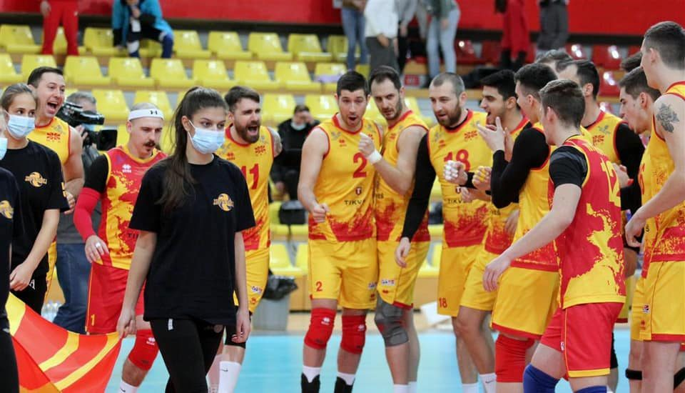 Macedonian volleyball players to play against Denmark in the European Silver League final on Sunday