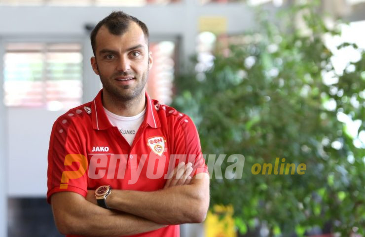 Goran Pandev misses training due to a possible ankle injury