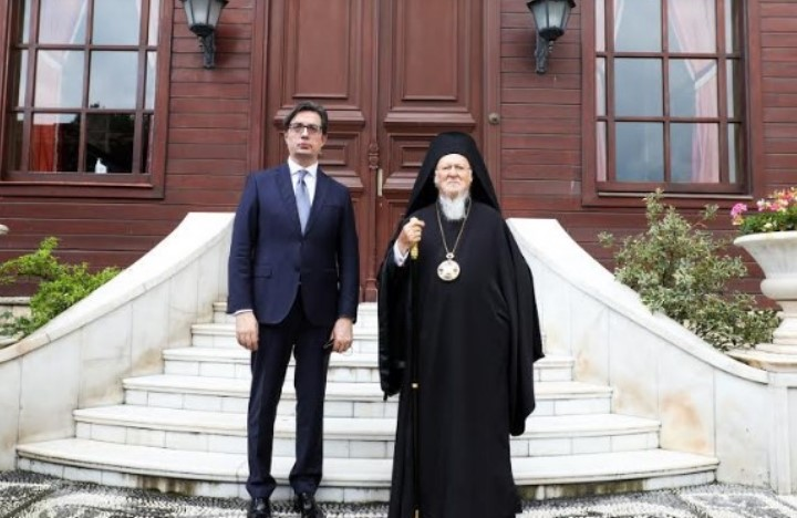 Pendarovski meets Bartholomew to discuss the church dispute