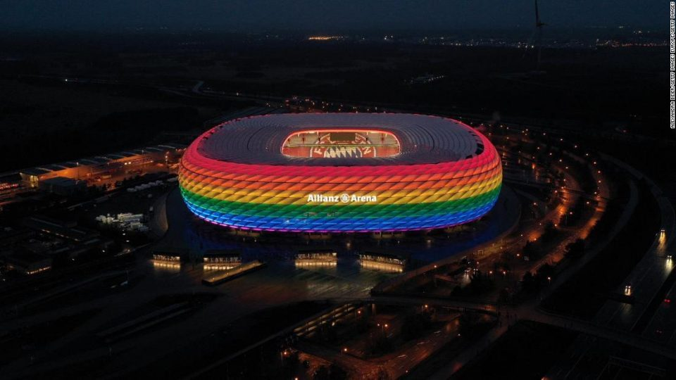 UEFA did not allow Germany to paint the stadium in the colors of the gay flag for the match against Hungary