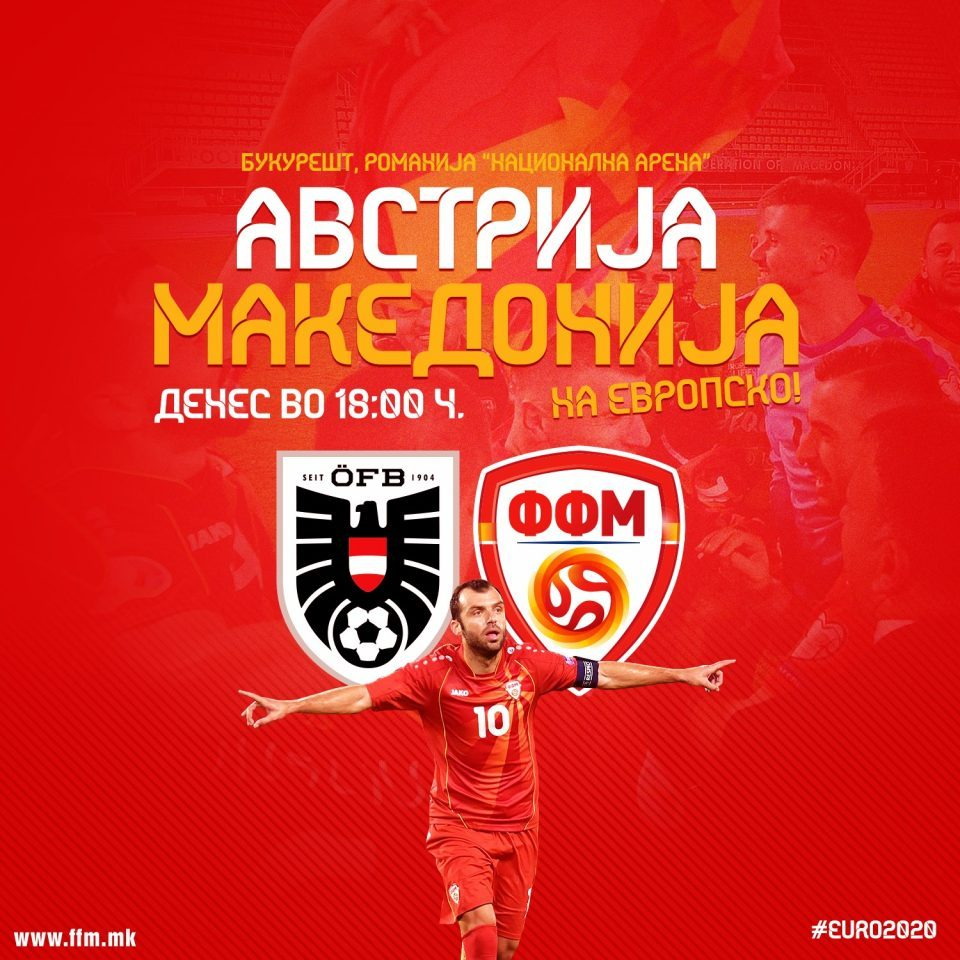 LIVE: Macedonia – Austria