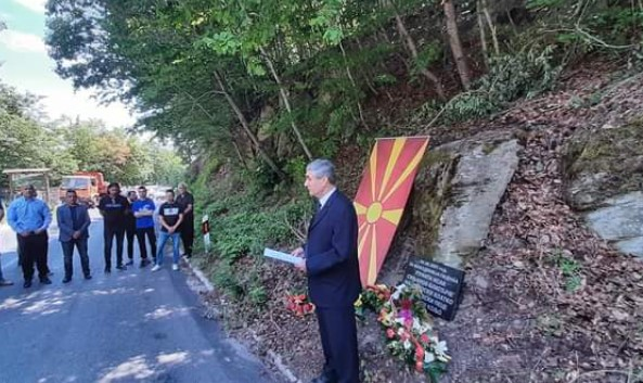 Memorial plaque to Macedonian soldiers killed near Tetovo in 2001 destroyed just two weeks after it was put in place