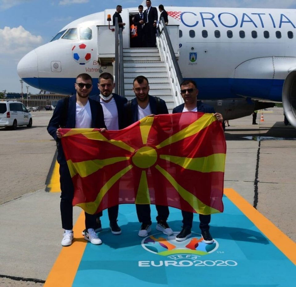 Macedonia's national football team arrives in Bucharest for EURO 2020