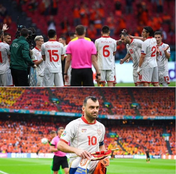 Macedonian players gave their all as they bid farewell to the European Cup and to their captain Goran Pandev