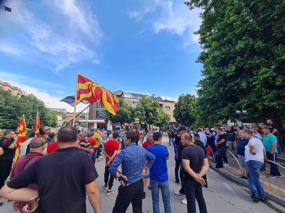 Protesters gather in Stip, demand no more treason