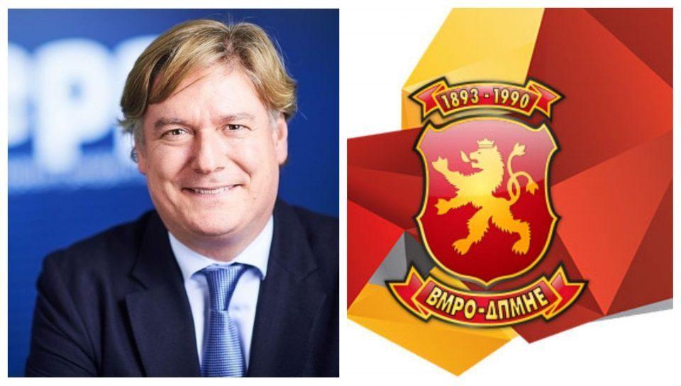 EPP Secretary General Lopez Isturiz congratulates VMRO-DPMNE on its birthday