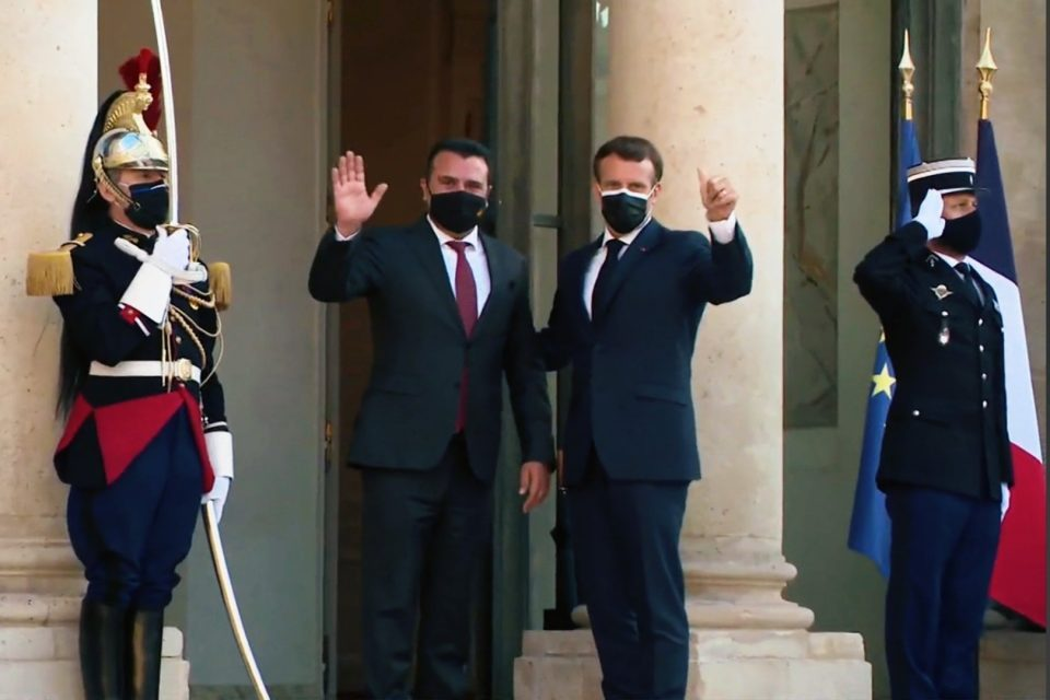 Macron tells Zaev that he now supports opening EU accession talks with Macedonia