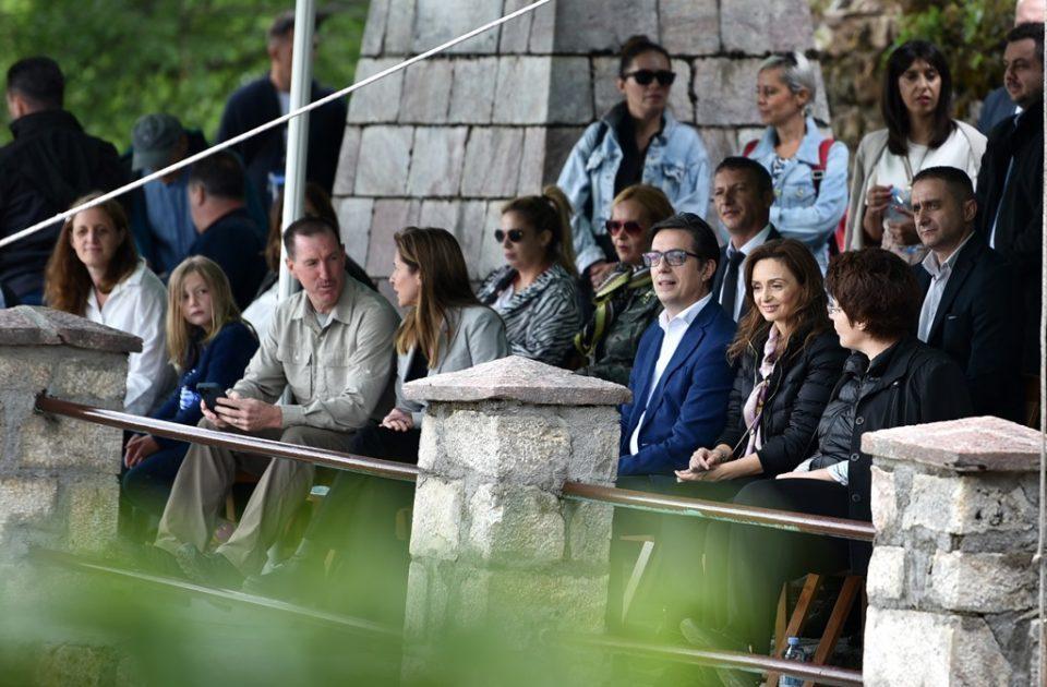 President Pendarovski and his wife attend Galicnik Wedding Festival