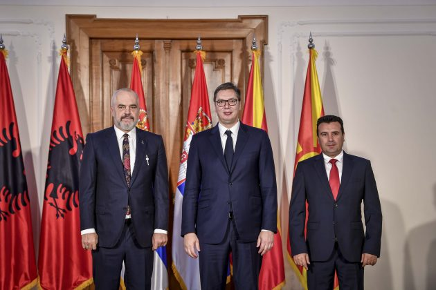 Zaev holds online meeting with Vučić and Rama ahead of regional economic forum