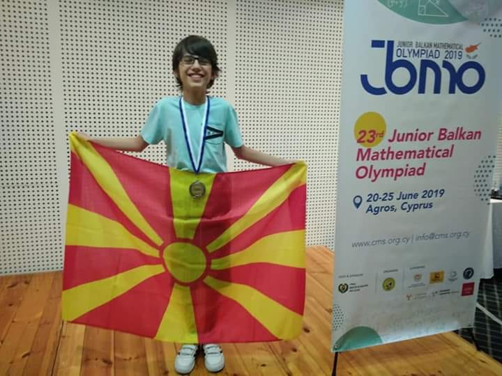 Math genius from Stip wins silver medal at the IMO international olympiad