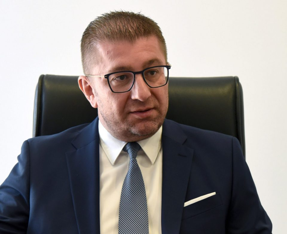 Mickoski calls on DUI to, for once, support the interests of their Macedonian neighbors