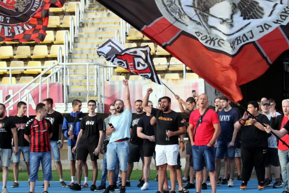 Vardar fans stand by their team even after its relegation