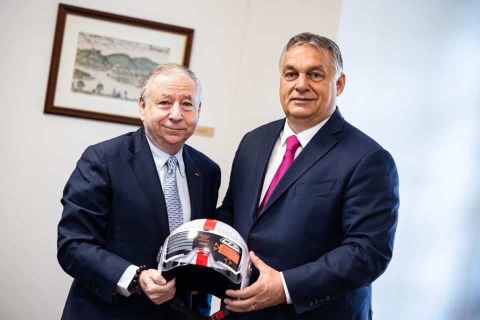 Orban meets FIA president Jean Todt