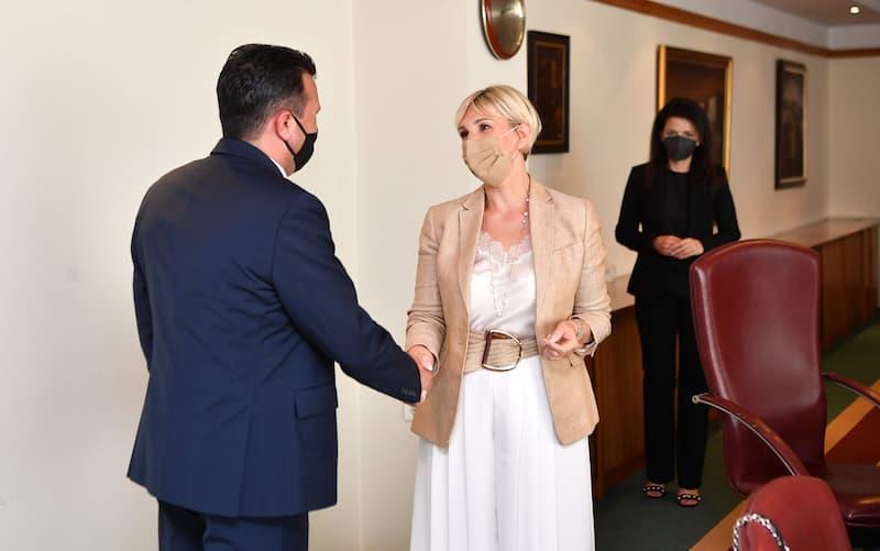 Zaev meets Croatian Ambassador Tiganj