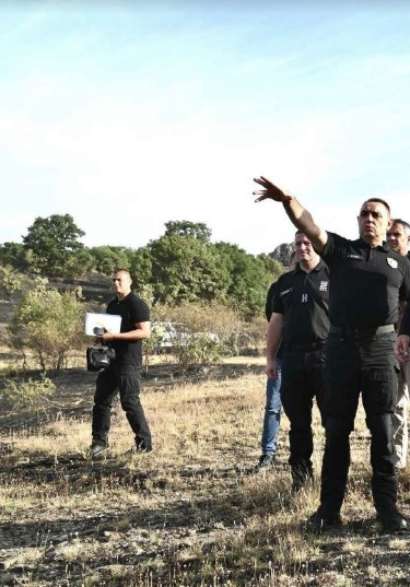 Serbian Interior Minister Vulin visits fire-hit municipality near border with Serbia