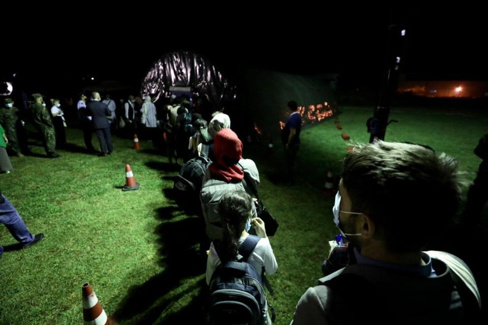 First group of 121 Afghan refugees arrives in Albania