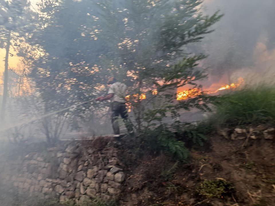 There are nine active fires in the country, with the most critical point being Staro Nagoricane
