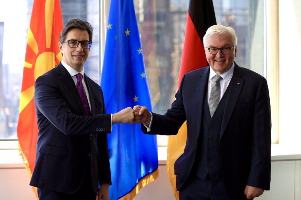 Pendarovski meets German President Steinmeier in New York