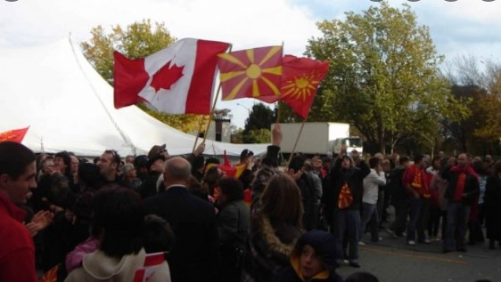 Macedonian Canadians organize to demand that political candidates oppose the forced renaming of Macedonia
