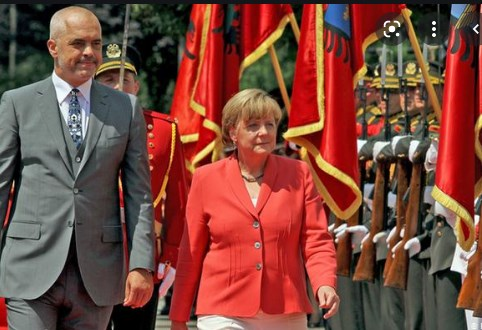 Merkel expresses sorrow Macedonia was not allowed to open its EU talks, says Europe is held hostage to nationalism