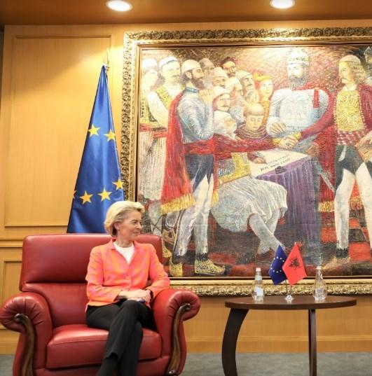 Von der Leyen fully supports Macedonia and Albania's start of EU talks