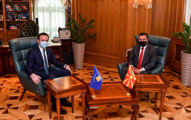 Zaev meets Kosovo counterpart Kurti