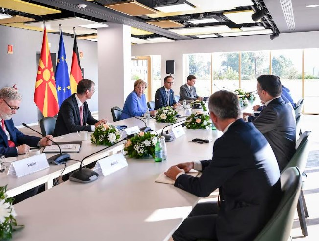 Zaev talked to Merkel about the need to unblock Macedonia's EU path, and about his Mini Schengen project