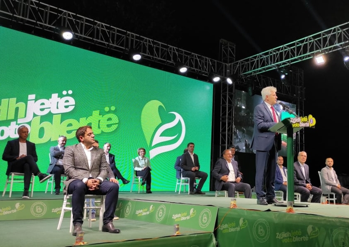 Ahmeti spoke about healthcare and the environment while presenting his DUI candidates in the local elections