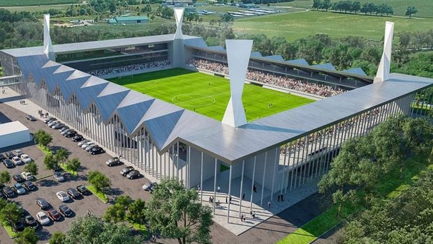 Modern new stadium in Backa Topola rivals those in much larger cities