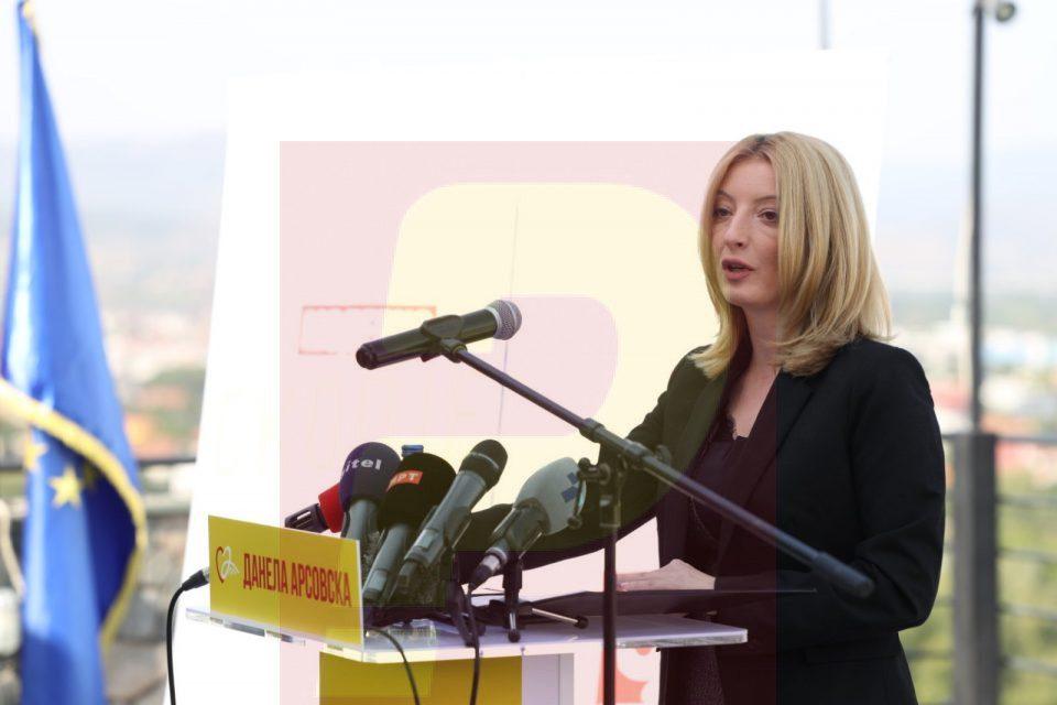 Danela Arsovska presents her program in the race for Mayor of Skopje