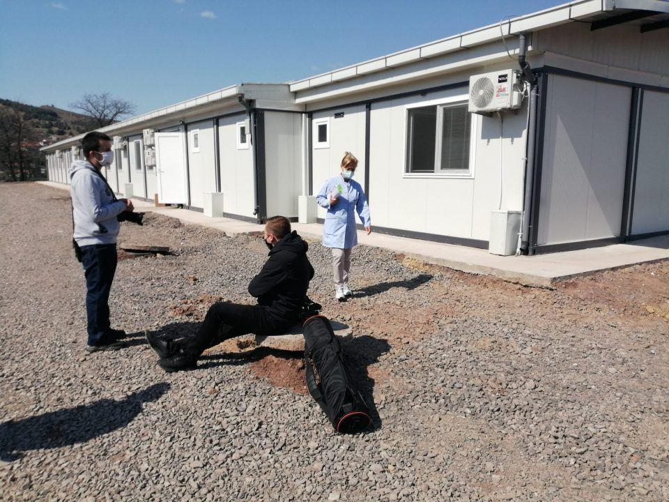 Stip hospital management is trying to remove the patients from the container Covid unit to a safer location