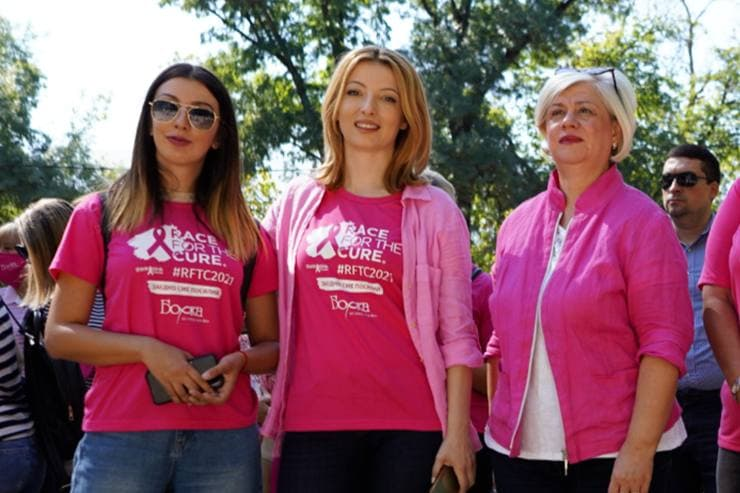 """Arsovska supports breast cancer awareness campaign """"RACE FOR THE CURE"""""""