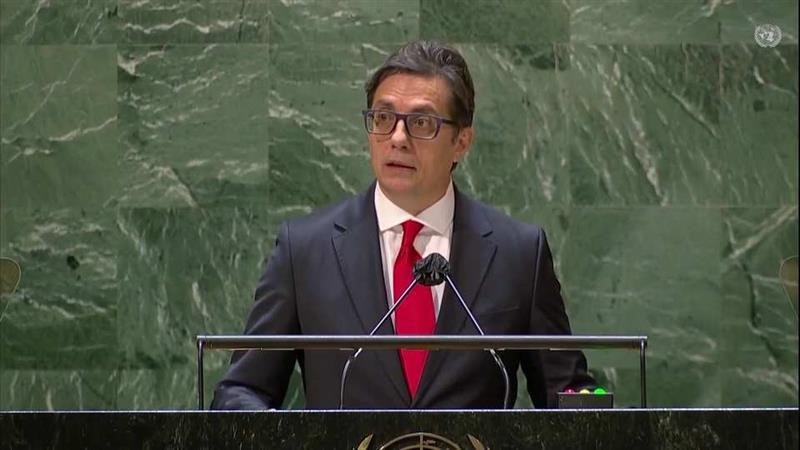 Pendarovski addresses the 76th UN General Assembly
