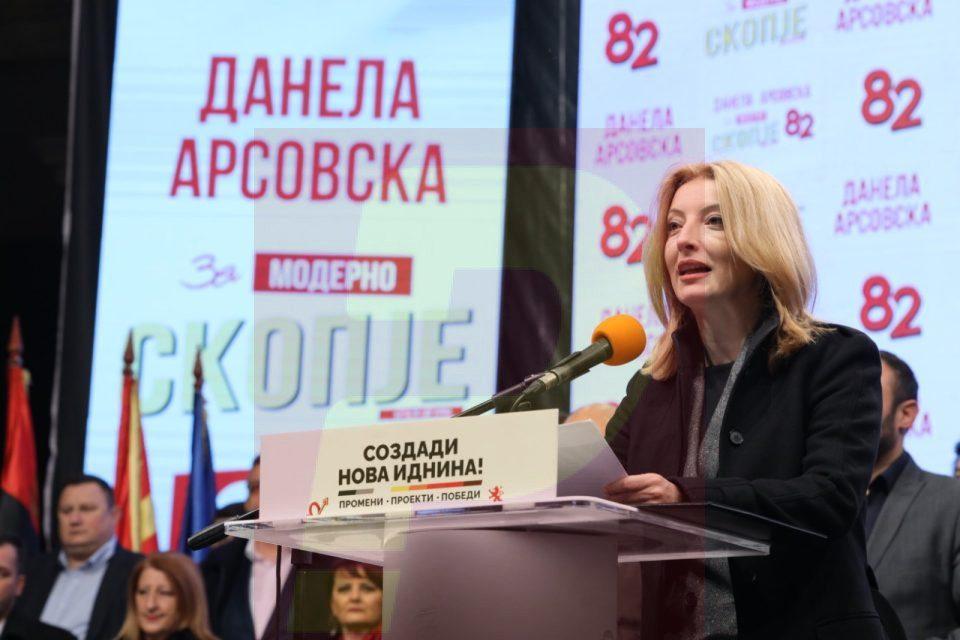 Danela Arsovska announces slander charges against SDSM