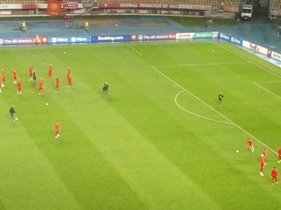 Macedonia – Germany game about to begin despite the heavy rain