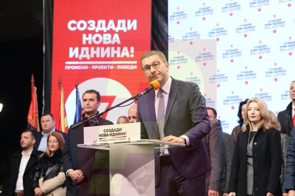 Mickoski: They have Spasovski and Ruskoska, but we have the people on our side, mass turnout on Sunday is the response to bribery